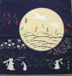 The Japanese see a rabbit rather than a man in the moon.