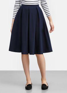 Купить Миди-юбка со складками (LD5P43) в интернет-магазине одежды O'STIN