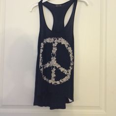 Tank top Peace sign made of hearts <3 Tops Tank Tops