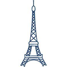 Eiffel Tower Machine Embroidery Design 2.5″ 3″ 3.5″ 4″ 4.5″ 5″ 5.5″ 6″ & 6.5″