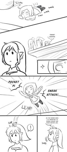 Sneak Attack by Z-Raid on DeviantArt --- So cute! The Legend Of Zelda, Legend Of Zelda Memes, Legend Of Zelda Breath, Link Zelda, Navi Zelda, Zelda Video Games, Sneak Attack, Skyward Sword, Twilight Princess