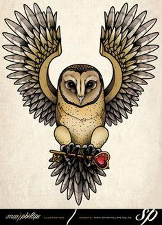 Tatuagens de corujas Parte 1: 160 Imagens