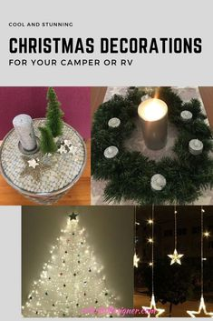 Cool Christmas decorations for Campers/RV's even in very tight spaces to create a cozy atmosphere. Make yourself comfortable in your Camper for Christmas. Easy Christmas Decorations, Decorating With Christmas Lights, Porch Decorating, Holiday Decor, Room Decorations, Decorating Ideas, Christmas Room, Simple Christmas, Christmas Holiday