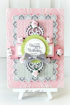 Created  using the Floral Impressions Card Kit from Anna Griffin and Chipboard and Flowers from The Dusty Attic.