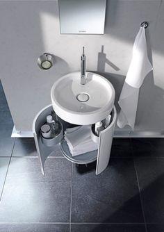Duravit Starck 1 gloss white cloakroom vanity unit