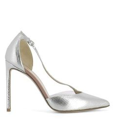 08d2eaeb8ad Francesco Russo Francesco Russo Women s Silver Leather Heels Francesco Russo