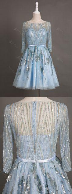 light blue homecoming dress, short homecoming dress, 2016 homecoming dress, half…