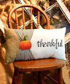 Loving this 'Thankful' Lumbar Pillow on #zulily! #zulilyfinds