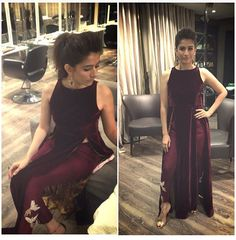 Love this outfit! Plain velvet shirt with worked pangs by sania maskatia