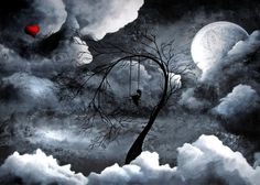 Fantasy Landscape Art Print by Jaime Best Title Heartache and poetry The heavens healed my broken heart Series Heartache and Poetry Size x centered on x Premium Paper Media Print Fantasy Landscape, Abstract Landscape, Caricatures, Illustrations, Illustration Art, Dark Fantasy Art, Print Artist, Heart Art, Art Photography