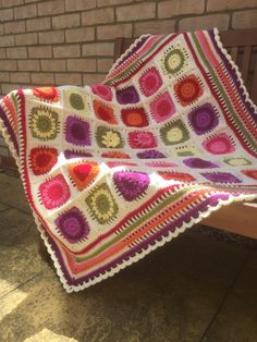 Crochet along just completed. Flower Garden with Heather of The Patchwork Heart.