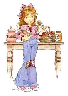 Sarah Kay printed panels for embroidery Sarah Key, Mary May, Vintage Drawing, Holly Hobbie, Australian Artists, Digi Stamps, Cute Dolls, Cute Illustration, Vintage Children