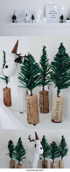 How To DIY Wine Cork Christmas Tree