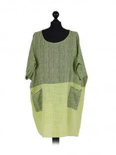 a1fc5adf97c7 Italian Stripy Print Plus Size Lagenlook Cotton Top