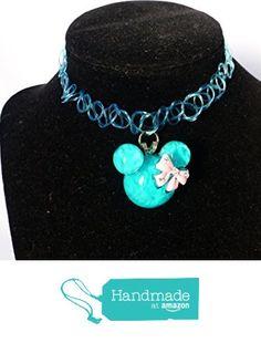 Big Blue Mouse Head 1990s Style Tattoo Choker Necklace / EDM Rave Kandi from DonkeyandtheUnicorn http://www.amazon.com/dp/B01BK51B5G/ref=hnd_sw_r_pi_dp_TLbUwb030CJYV #handmadeatamazon