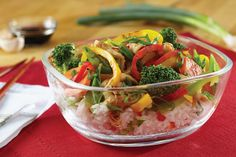 Treat your family to fresh and healthy fare with this classic chicken stir fry with your choice of fresh vegetables. more