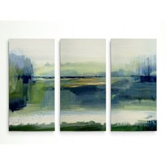 'Glistening Meadow' Acrylic Painting Print Multi-Piece Image on Wrapped Canvas