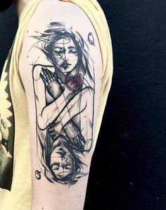 Sketches na pele por Frank Carrilho - Tatuagens em Blackwork, fineline e…