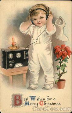 Vintage Christmas Ham Radio