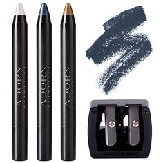 This new set includes 3 Mineral Eye Crayons infused with gorgeous, certified organic Jojoba Seed Oil that gently glide across your eye lids and are suitable for even the most sensitive of eyes and a Duo Pencil Sharpener SAVING you $28. Plus receive FREE AUS shipping.