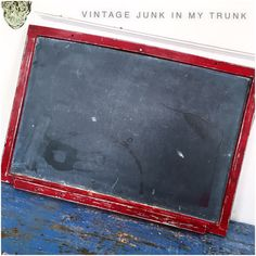 A personal favorite from my Etsy shop https://www.etsy.com/listing/471264016/vintage-chalkboard-chippy-red-chalkboard