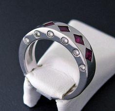 Ruby / Diamond 14k White Gold Ring