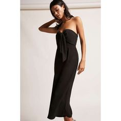 e8350efe70a Forever21 Selfie Leslie Strapless Culotte Jumpsuit (85 NZD) ❤ liked on Polyvore  featuring jumpsuits