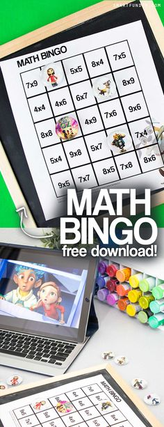 Sponsored: Teachers! Get this FREE printable multiplication BINGO game based on the Amazon Kids show Lost in Oz on Amazon Prime. Include a BLANK bingo card you can customize with any math problems AND a DIY magnet kids craft idea. #LostInOz
