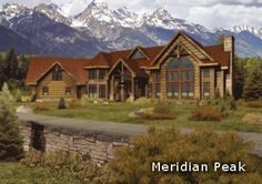 Meridian Peak • 4926 Square Feet by Wisconsin Log Homes  Exceptional design and exquisite detail combine to create the ultimate comforts in mountain home living. Warm combinations of log, timber and stone, dynamic windows, octagon towers, bump-outs, and an inviting front portico give the Meridian Peak its enticing look.  See plan at: http://www.logcabindirectory.com/loghome_floorplans/wisconsin_log_homes/meridian_peak.htm