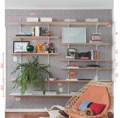 Estante econômica e clean 8 estantes para expor livros e objetos (com duas opções econômicas) - Casa