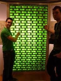 Image result for walls with glass bottles