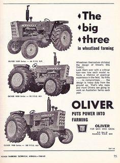 OLIVER The Big Three In Wheatland Farming Ad