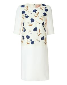Ivory embroidered sheath dress by Roksanda Ilincic