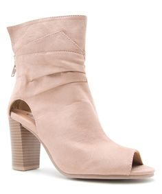 Look at this #zulilyfind! Taupe Lucy Peep-Toe Boot by Qupid #zulilyfinds