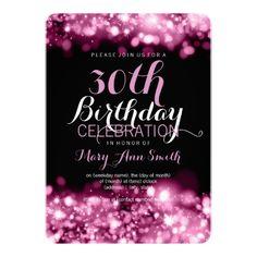30th birthday rose gold invitation eat drink and be thirty glitter elegant 30th birthday party pink sparkling lights invitation filmwisefo