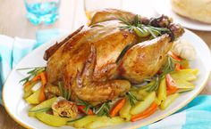 Whole Roasted Chicken Vegetables Rosemary Stock Photo (Edit Now) 67117264 Real Food Recipes, Great Recipes, Chicken Recipes, Cooking Recipes, Healthy Recipes, Whole Roasted Chicken, Roast Chicken, Epicure Recipes, Honey Glazed Chicken