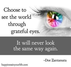 See the world through grateful eyes