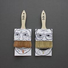 Moustache paint brushes - brilliant!!  #Movember