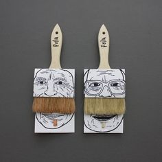 Moustache paint brushes - brilliant!!  #Movember