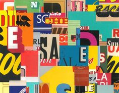 New York City, letters, graffiti and text all serve as sources of inspiration for Greg Lamarche. His collages incorporate found materials and a variety of