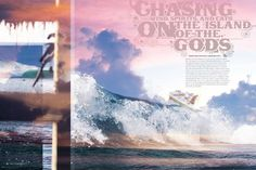 Like - photography is beautiful, manipulation into colour scheme and glassy effects/ reflection quaility in layout echo the crystal feel of that water. Reality enhanced (too enhanced? Too sugary?)  SBC Kiteboard Magazine