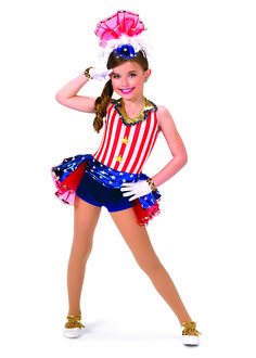Little ones love themed dances with cute costumes, like this patriotic ensemble by A Wish Come True. #FashionFriday