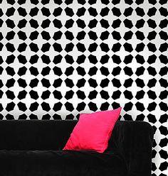 Bazaar Allover Stencil  See more Geometric Stencil Patterns: http://www.cuttingedgestencils.com/wall-stencils-geometric-stencils.html  #geometric #stencil #patterns