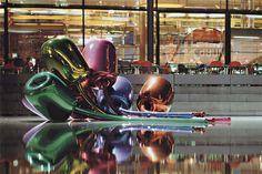 """A German bank sold Jeff Koons's """"Tulips"""" for 33.7 million USD, an auction high for the artist."""