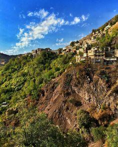 Little cozy Kurdish City of Nowsud in Paveh County, Province Kirmaşan, Iran.