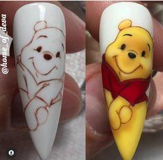 Disney Nail Designs, Nail Art Designs, Cute Gel Nails, My Nails, Nail Art Hacks, Gel Nail Art, College Nails, Cute Spring Nails, Disney Nails