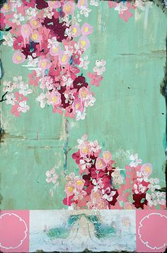 Kathe Fraga | Roby King GalleryKathe Fraga Remembering Spring 36x24 Mixed media on Canvas $2500