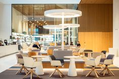 Heartspace of K-Kampus, HQ of K-ryhmä in Helsinki was designed by dSign Vertti Kivi & Co in 2019 Helsinki, Offices, Conference Room, Table, Furniture, Design, Home Decor, Decoration Home, Room Decor