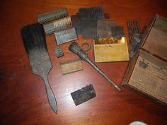 Antique tools for wood graining