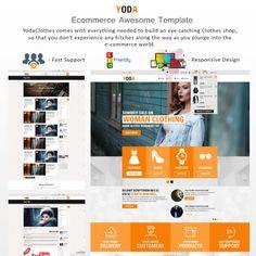 Yoda Clothes - HTML. Bootstrap Website Theme